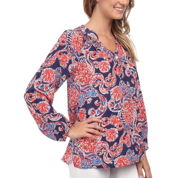 3aa034db12a577 Lilly Pulitzer Tops | Elsa For The Halibut Paisley Top | Poshmark